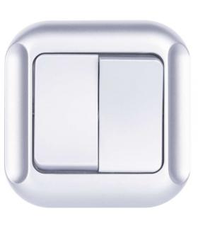 Wyłącznik świecznikowy 2P srebrny EMOS A5320.2