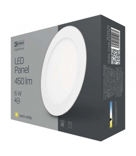 Panel LED wpuszczany okrągły 6W IP20 ciepła biel EMOS ZD1121