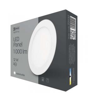 Panel LED wpuszczany okrągły 12W biały IP20 neutralna biel EMOS ZD1132