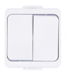 Wyłącznik świecznikowy 2P IP44 biały EMOS A5720.0