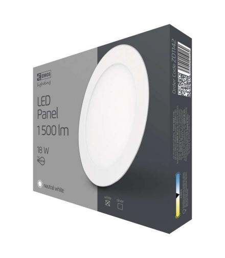 Panel LED wpuszczany okrągły 18W biały IP20 neutralna biel EMOS ZD1142