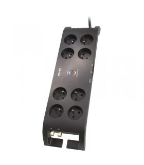 Listwa przeciwprzepięciowa Philips 8 gniazd 3m czarna EMOS P54040