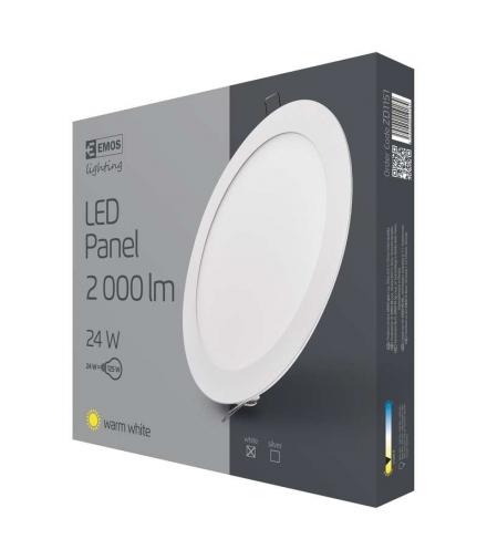 Panel LED wpuszczany okrągły 24W IP20 ciepła biel EMOS ZD1151