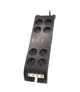 Listwa przeciwprzepięciowa Philips 8 gniazd 3m czarna EMOS P54050
