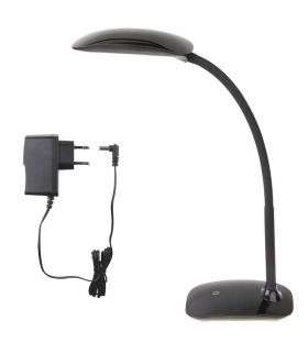 Lampa biurkowa LED MA66-D czarna z portem USB EMOS Z7575