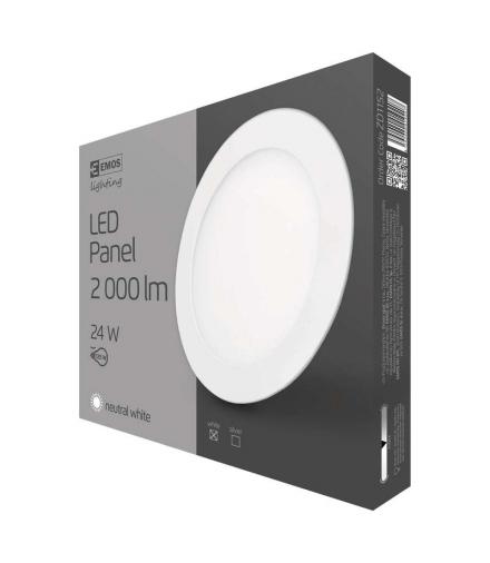 Panel LED wpuszczany okrągły 24W biały IP20 neutralna biel EMOS ZD1152