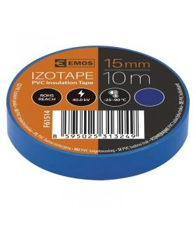 Taśma izolacyjna PVC 15mm / 10m niebieska EMOS F61514