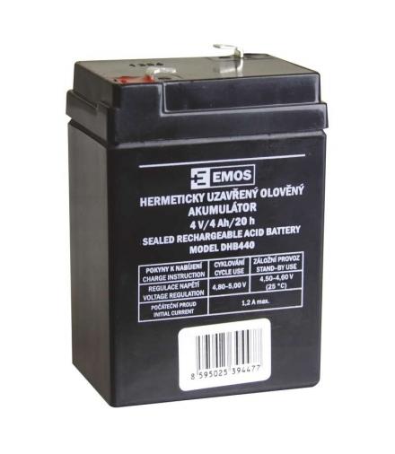 Akumulator AGM 4V 4Ah EMOS B9664