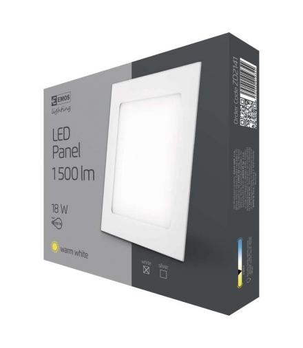 Panel LED wpuszczany kwadratowy 18W IP20 ciepła biel EMOS ZD2141