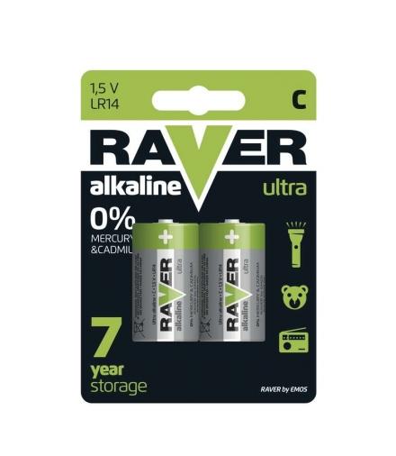Bateria alkaliczna Raver Ultra Alkaline C (LR14) blister 2 EMOS B7931