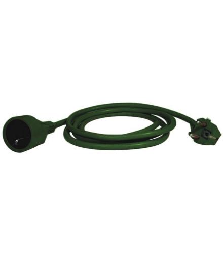 Przedłużacz 1 gniazdo 5m zielony EMOS P0115Z