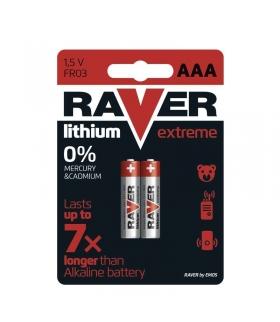Bateria litowa Raver Lithium AAA (FR03) blister 2 EMOS B7811