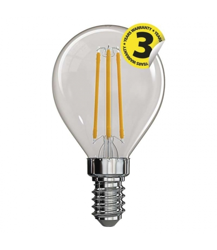Żarówka LED Filament mini globe 4W E14 ciepła biel EMOS Z74230