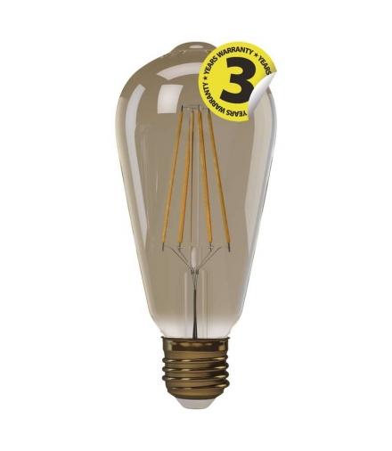 Żarówka LED Vintage ST64 4W E27 ciepła biel+ EMOS Z74302