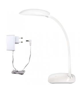 Lampa biurkowa LED MA66-D biała z portem USB EMOS Z7572