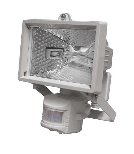 Naświetlacz halogenowy 150W z czujnikiem PIR biały EMOS G2312