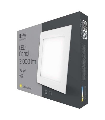 Panel LED wpuszczany kwadratowy 24W IP20 ciepła biel EMOS ZD2151