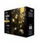 Oświetlenie świąteczne 600 LED sople 10m WW, 8 programów EMOS ZY1436