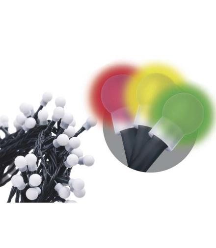 Lampki choinkowe 80 LED kulki 8m IP44 MULTIKOL, 8 programów EMOS ZY1453