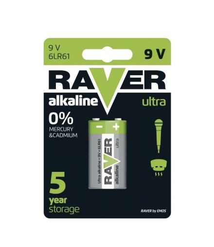 Bateria alkaliczna Raver Ultra Alkaline 9V (6LF22) blister 1 EMOS B7951