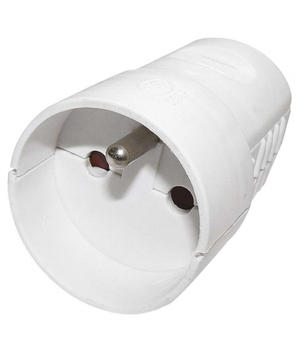 Gniazdo proste białe EMOS P0042
