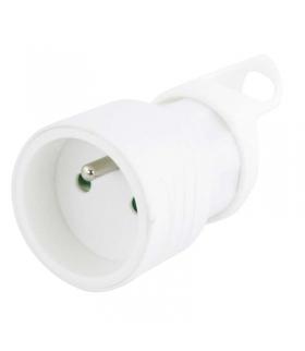 Gniazdo proste z uchwytem białe EMOS P0045