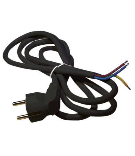 Przewód przyłączeniowy PVC 3×1,0mm, 2m czarny EMOS S18312