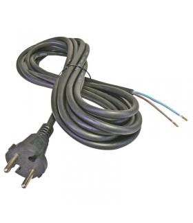 Przewód przyłączeniowy guma 2×1,0mm, 5m czarny EMOS S03050