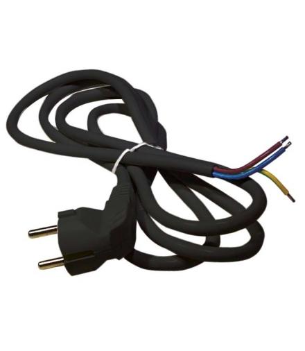 Przewód przyłączeniowy PVC 3×1,0mm, 3m czarny EMOS S18313
