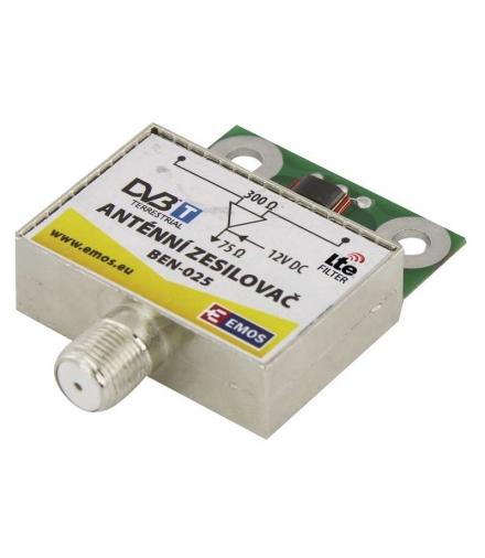 Wzmacniacz antenowy 25dB VHF/UHF EMOS J5802