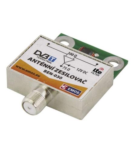 Wzmacniacz antenowy 30dB VHF/UHF EMOS J5803