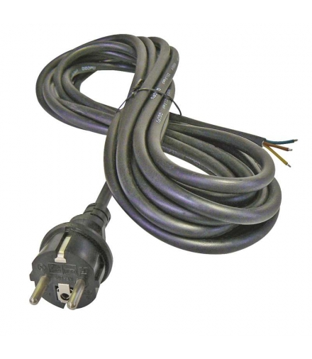 Przewód przyłączeniowy guma 3×1,0mm, 3m czarny EMOS S03130