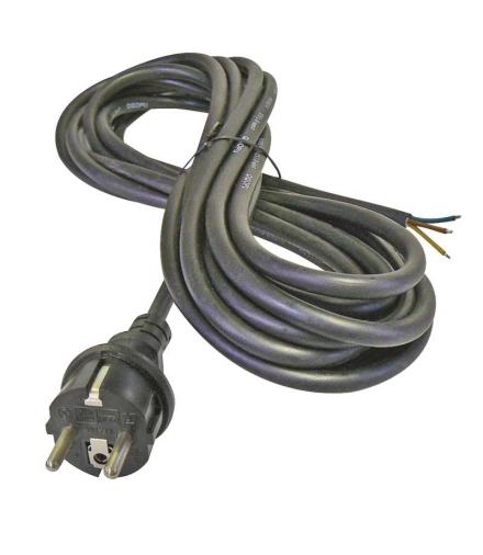 Przewód przyłączeniowy guma 3×1,0mm, 5m czarny EMOS S03150