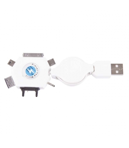Przewód USB 2.0 wtyk A - multiwtyczka, 0,8m EMOS SM7043