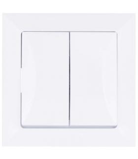 Wyłącznik świecznikowy 2P Opal biały EMOS A5520.0