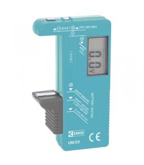 Uniwersalny tester baterii z wyświetlaczem EMOS N0322