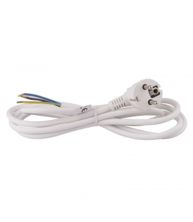 Przewód przyłączeniowy PVC 3×1,0mm, 2m biały EMOS S14312