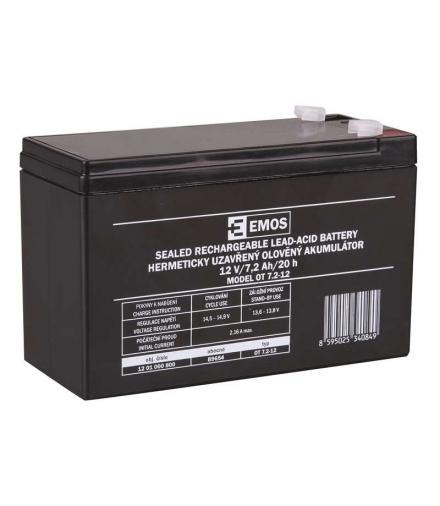 Akumulator AGM 12V 7,2Ah F4,7 EMOS B9654