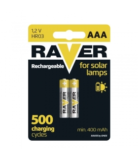 Akumulator NiMH Raver Solar AAA (R03) blister 2 EMOS B7414