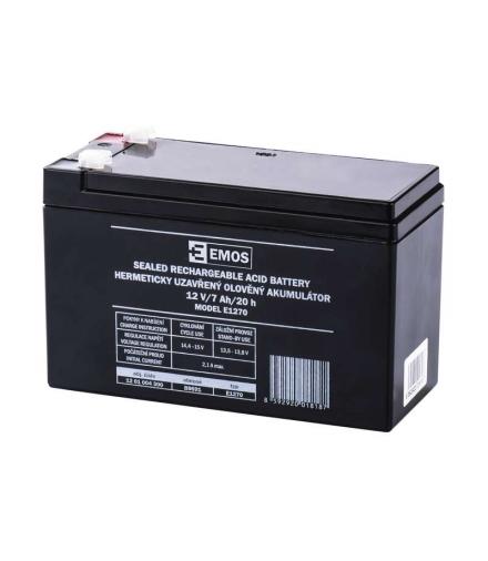 Akumulator AGM 12V 7Ah F4,7 EMOS B9691