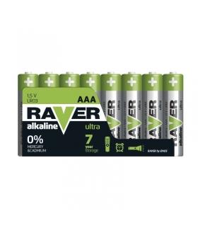 Bateria alkaliczna Raver Ultra Alkaline AAA (LR03) folia 8 EMOS B79118