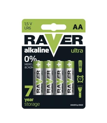 Bateria alkaliczna Raver Ultra Alkaline AA (LR6) blister 4 EMOS B7921