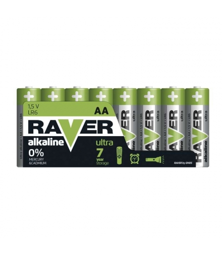 Bateria alkaliczna Raver Ultra Alkaline AA (LR6) folia 8 EMOS B79218