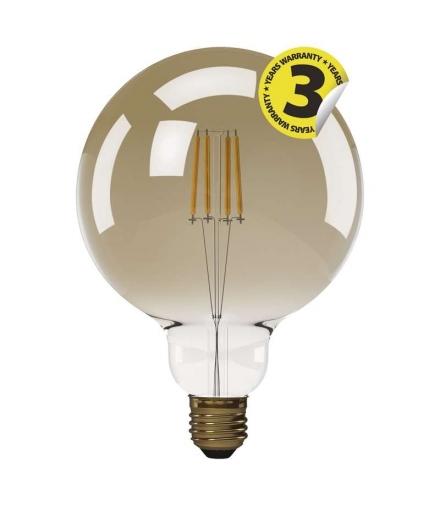 Żarówka LED Vintage G125 4W E27 ciepła biel+ EMOS Z74303
