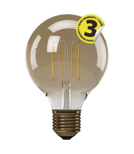 Żarówka LED Vintage G95 4W E27 ciepła biel+ EMOS Z74304