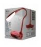 Lampa biurkowa LED DEL1321 USB czerwona z portem USB EMOS Z7596R