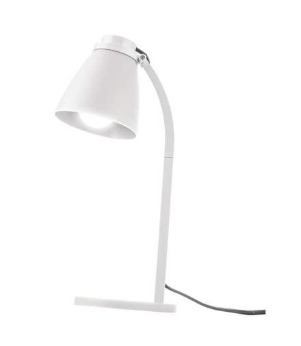 Lampa biurkowa Lolli z żarówką LED 6W E14 biała EMOS Z7597W