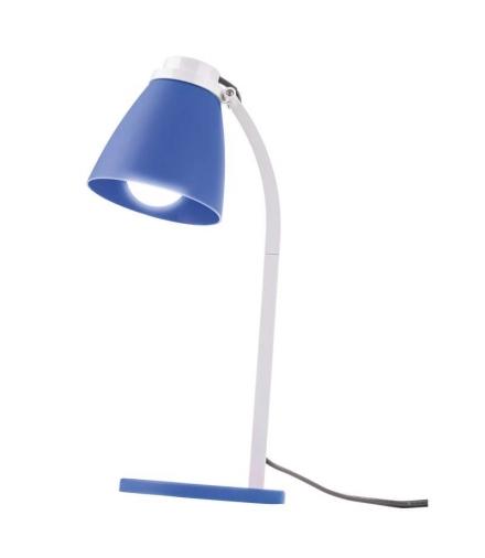 Lampa biurkowa Lolli z żarówką LED 6W E14 niebieska EMOS Z7597B