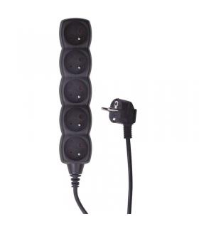 Przedłużacz 5 gniazd 3m czarny EMOS PC0513