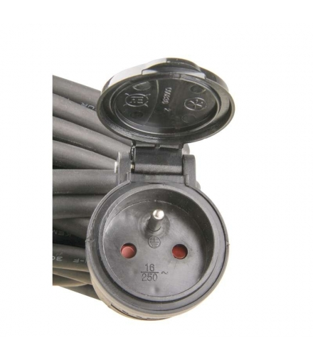Przedłużacz 1 gniazdo 10m 3x1,5mm guma EMOS P01710